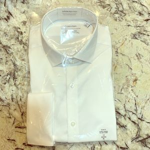 Mens Calvin Klein white button down